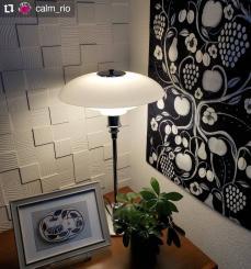 #Repost @calm_rio • • • • • • 2021.4.6(火)  ゆっくり灯りを楽しみます✨💕  反転ブラパラ、壁に掛けてみました。 やっぱり素敵😍 好きです😊  #灯り#あかり #kuovi#オーチャード#反転ブラパラ#ブラパラ#パラティッシ #birgerkaipiainen #scandinavian #design #home #textile #orchard #blackandwhite #diy #homedecor #customerphoto