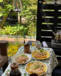 #Repost @colorful_7days ... 実家のテラスで朝ごはん。 ・ ・ 外の季節。 もっともっとあったかくなってほしいな〜。 ・ ・ #朝ごはん #母の日 #scope_japan #breakfast #birgerkaipiainen #design #home #textile #linen #apila #summer #kuovi #customerphoto